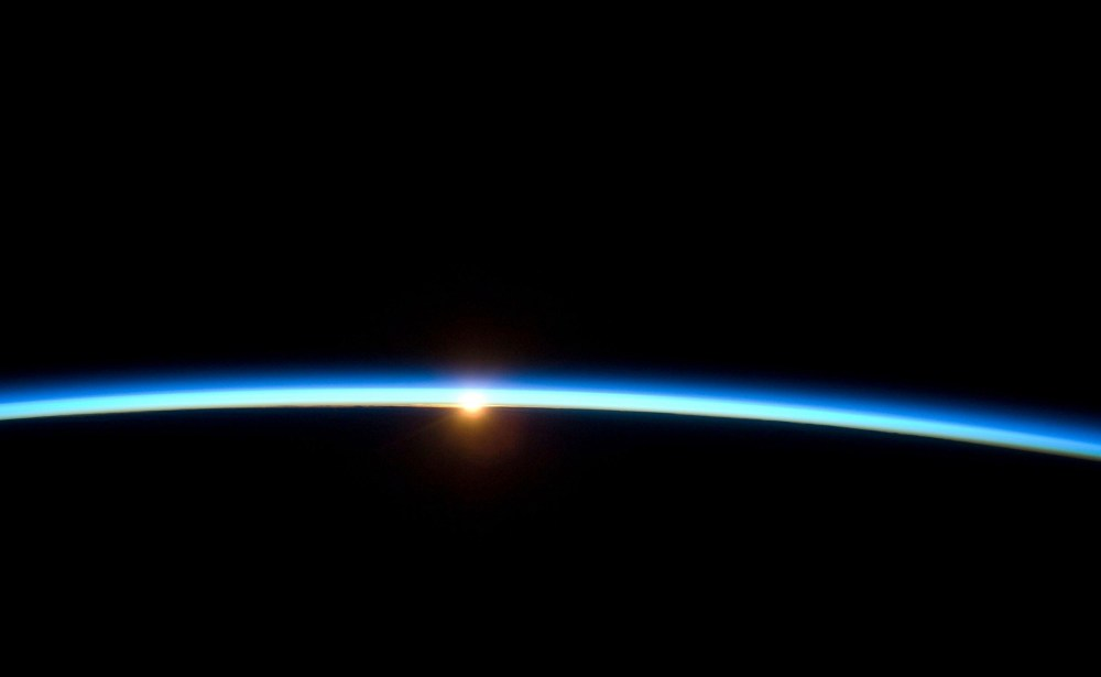 Our earth's thin atmosphere
